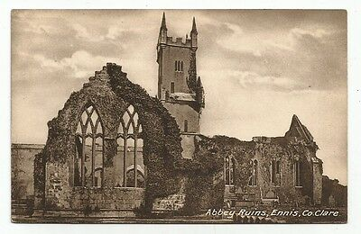 n irish postcard ireland co. clare abbey ruins ennis