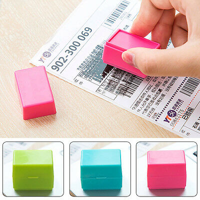 1Pc Security Roller Self Inking Stamp Messy Code Privacy Security Protection Hot