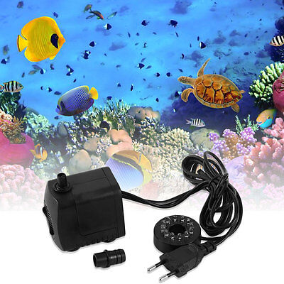 15W AC 220-240V 12 LED Submersible Water Pump For Aquarium Fountain Fish Tank HT