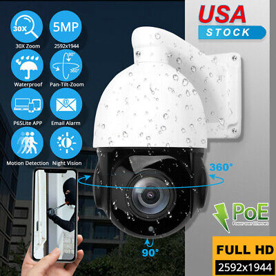 HD 1080p PTZ Outdoor Speed Dome IP Pan Tilt 30X Zoom IR Network Security Cameras