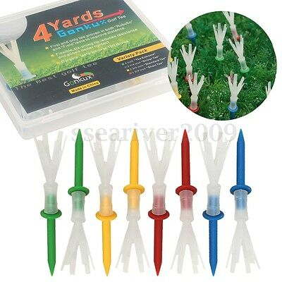 12pcs 4 Yards Golf Tees More ProTee System Evolution Plastic 2 3/4'' 4 Color Set