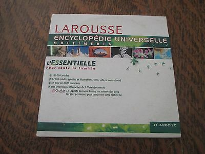 pc cd-rom larousse encyclopedie universelle multimedia windows 98/2000 (cd n°2)