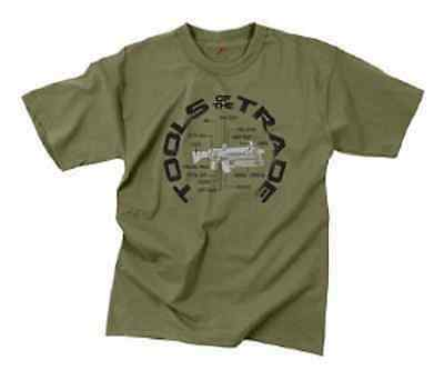 """US VINTAGE """" TOOLS OF THE TRADE """" T-SHIRT ARMY OD GREEN XLarge"""
