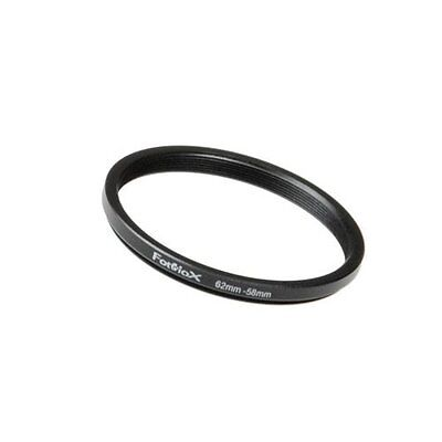 Fotodiox Metal Step Down Ring Filter Adapter, Anodized Black Aluminum 62mm-58mm,