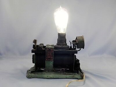 RARE~Antique 1916 Steampunk Industrial Machine Age Lamp~Light~Magnetic Rectifier