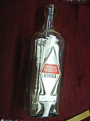 Vintage Gilbey's Vodka 1 Gallon Vodka Bottle - Rarely Seen -Man-Cave?