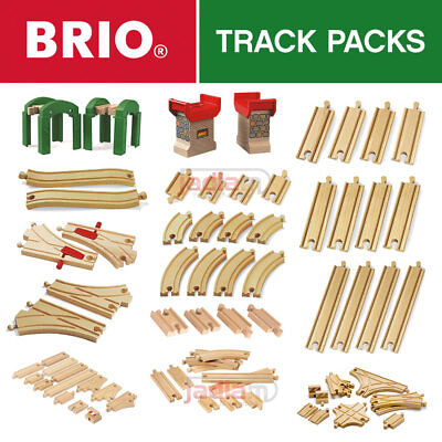 BRIO Wooden Railway Track. All Train Set Track Packs - Full Range - Choose