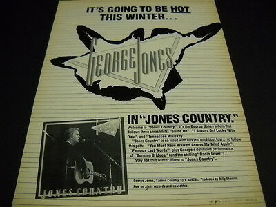 GEORGE JONES It's Going To Be Hot This Winter... original 1983 PROMO POSTER AD