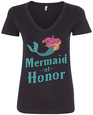 Mermaid Of Honor Women's V-Neck T-Shirt Maid Of Honor Bridal Gift