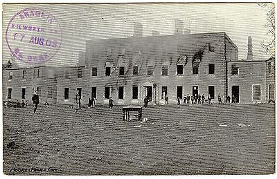 Postcard Moore Park Army Barracks Fire-Kilworth Village-Co. Cork-Ireland 1909
