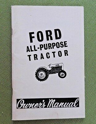 Ford 4000 gas diesel tractor operators manual 1962 1964 3799 original 1964 ford 2000 4000 all purpose tractor operators manual near mint fandeluxe Choice Image