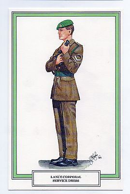 #GWS/M102 Intelligence Corps, Lance Corporal In Service Dres - Military Postcard