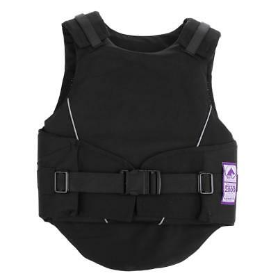 Flexible Body Protective Gear Equestrian Horse Riding Vest Kids Black