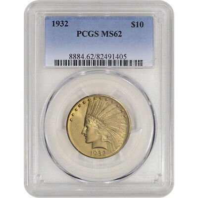 US Gold $10 Indian Head Eagle - PCGS MS62 - Random Date