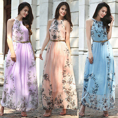 New Long Chiffon Wedding Formal Evening Party Bridesmaid Ball Gown Prom Dresses