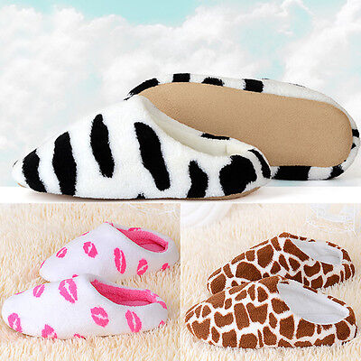 Men Women Cute Soft Winter Non-slip Slippers Sandal House Home Anti-slip Shoes
