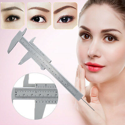 Reusable Permanent Eyebrow Makeup Microblading Measure Tattoo Ruler Micrometer