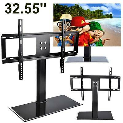 "32-55"" TV Stand Bracket Adjustable Desktop Mount Monitor Plasma LCD TV Universal"