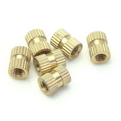 M3 M4 Press-In Brass Copper Inserts Embedded Knurl Threaded Nut Part for Plastic