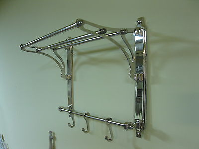 Silver Coat Hat Rack Made of Metal Nickel Plated 42 cm x 35 cm x 22 CM