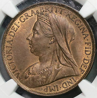 1899 NGC MS 64 Victoria Penny GREAT BRITAIN Coin (16110413C)