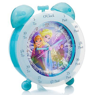 Disney Frozen Time Teaching Bedside Clock New Kids Official