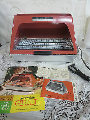 Vintage GE Portable Grill Electric B10 Indoor or Outdoor