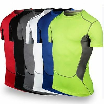 Gym Sport Running Men's T Shirt Fitness Muscle Quick Dry Basic Tee Tops Clothes