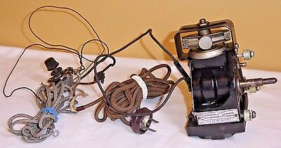 Rare Fritz F Van Der Woude Antique Electric Motor w/ Governor