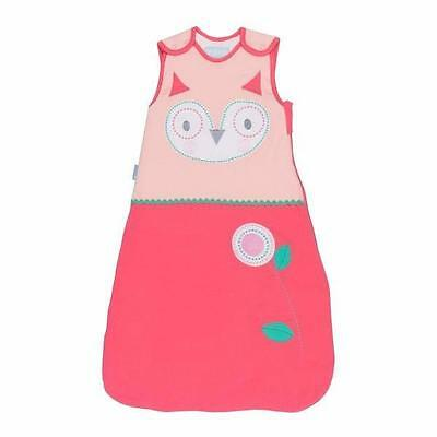 Grobag What A Hoot 6-18 mths 1 Tog Pink Baby Girl Embroidered Sleeping Bag Sack