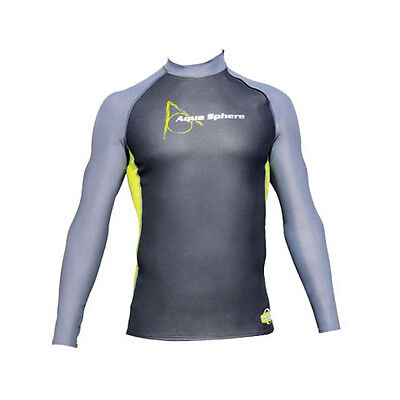 Aqua Sphere Mens Aquaskin Neoprene Long Sleeve Open Water Swimming Top Surfing