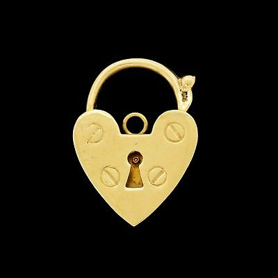 Vintage 9k 9ct Gold XL Padlock Charm Bracelet Closure Clasp Large Heavy 9.25Gr