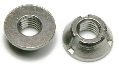 "Tri-Groove Tamper Proof Security Nuts 316 Stainless Steel 1/4""-20 - QTY 1"