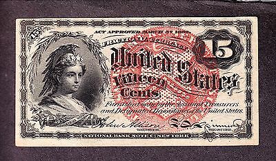 US 15c Fractional Currency FR 1267 Ch CU