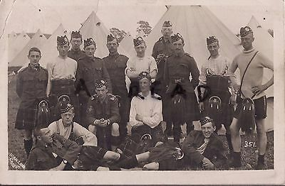 Soldier Group 10th Battalion The Kings Liverpool Regiment 1911 Camp inc Piper