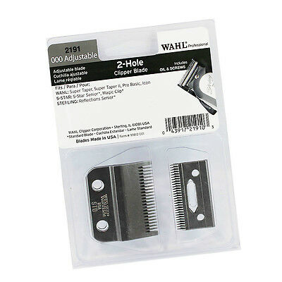 Wahl Professional 000 adjustable 2 Hole Clipper Blade #2191