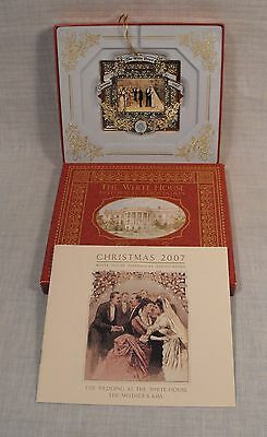 White House Historical Assoc. Christmas 2007 Ornament GROVER CLEVELAND  24 KT