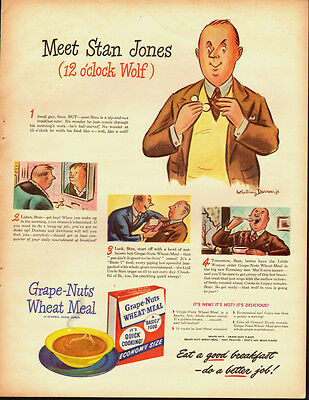 1942 Vintage ad for Grape-Nuts Wheat Meal Cereal`Art (031914)