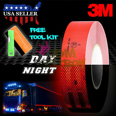 """3M 2""""x150' Diamond Grade Red Conspicuity Tape CE Approved Reflective Safety"""