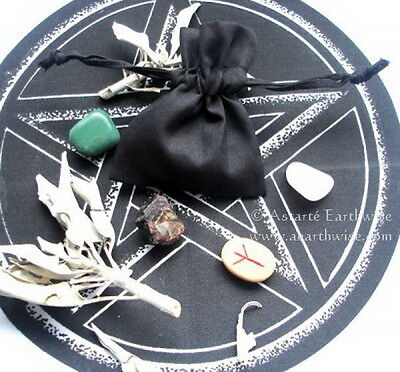 PROTECTION MOJO BAG WITH INSTRUCTIONS Wicca Pagan Witch Goth