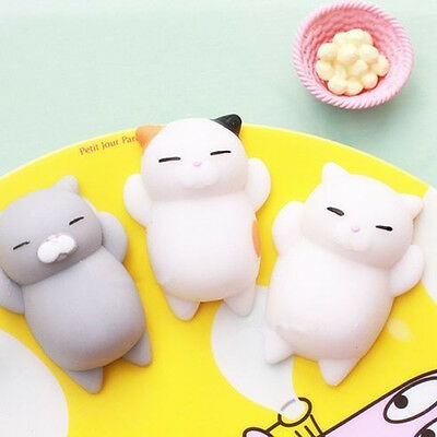 Soft Lovely Lazy Cat Squishy Squeeze Toys Collection Stress Reliever Kids Gift