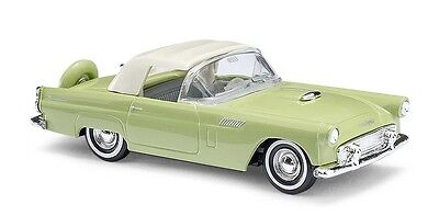Busch H0, 45242 Ford Thunderbird, Cabriolet Closed, Green, Car Model 1:87