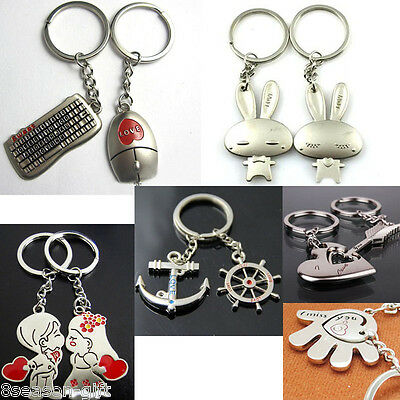 2017 Fashion Simple Cute Keyboard Mouse Anchor Rudder  key Ring Lover Gift