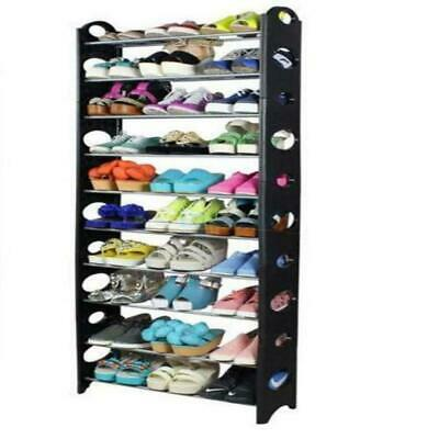 High Quality 50 Pair 10 Tier Space Saving Storage Organizer Shoes Tower Rack
