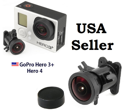 170° Degrees Wide Angle Lens Replacement 12MP For GoPro Hero 3+ Hero 4 Camera