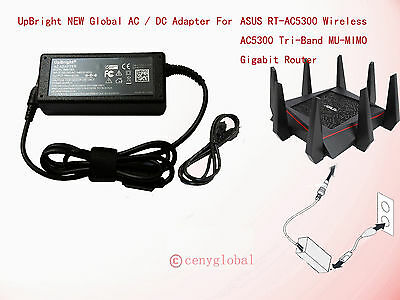 AC Adapter For ASUS RT-AC5300 Wireless AC5300 Tri-Band Gigabit Router Power Cord