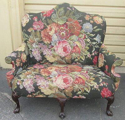 57186  Floral Tapestry Loveseat Sofa Couch Chair
