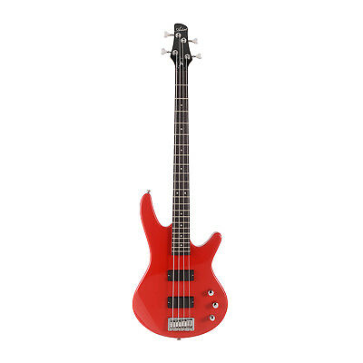 Artist AG105RD Electric Bass Guitar Plus Accessories - Solid Red - New