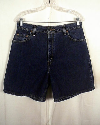 vtg 80s 90s Levis 551 Relaxed Fit Denim Jean Shorts red tab USA made boys 14 31