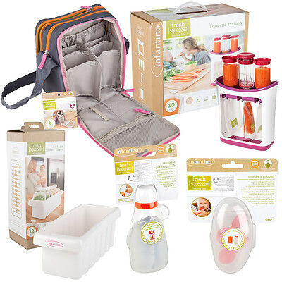 Infantino Fresh Squeeze Station + Accessory Set - Baby Toddler Food Puree Maker